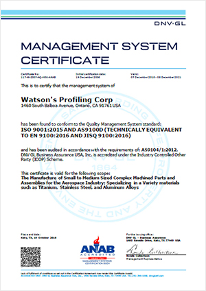iso 9001 2015 as9100d certificate